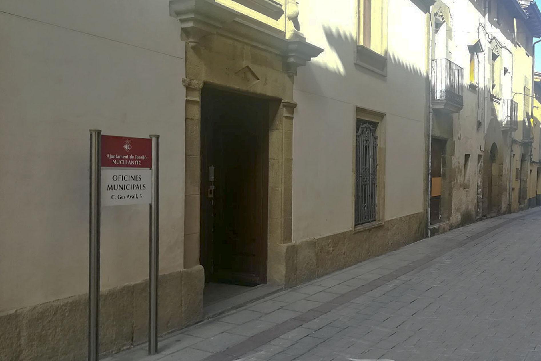 Oficines de l'Ajuntament al carrer Ges d'Avall
