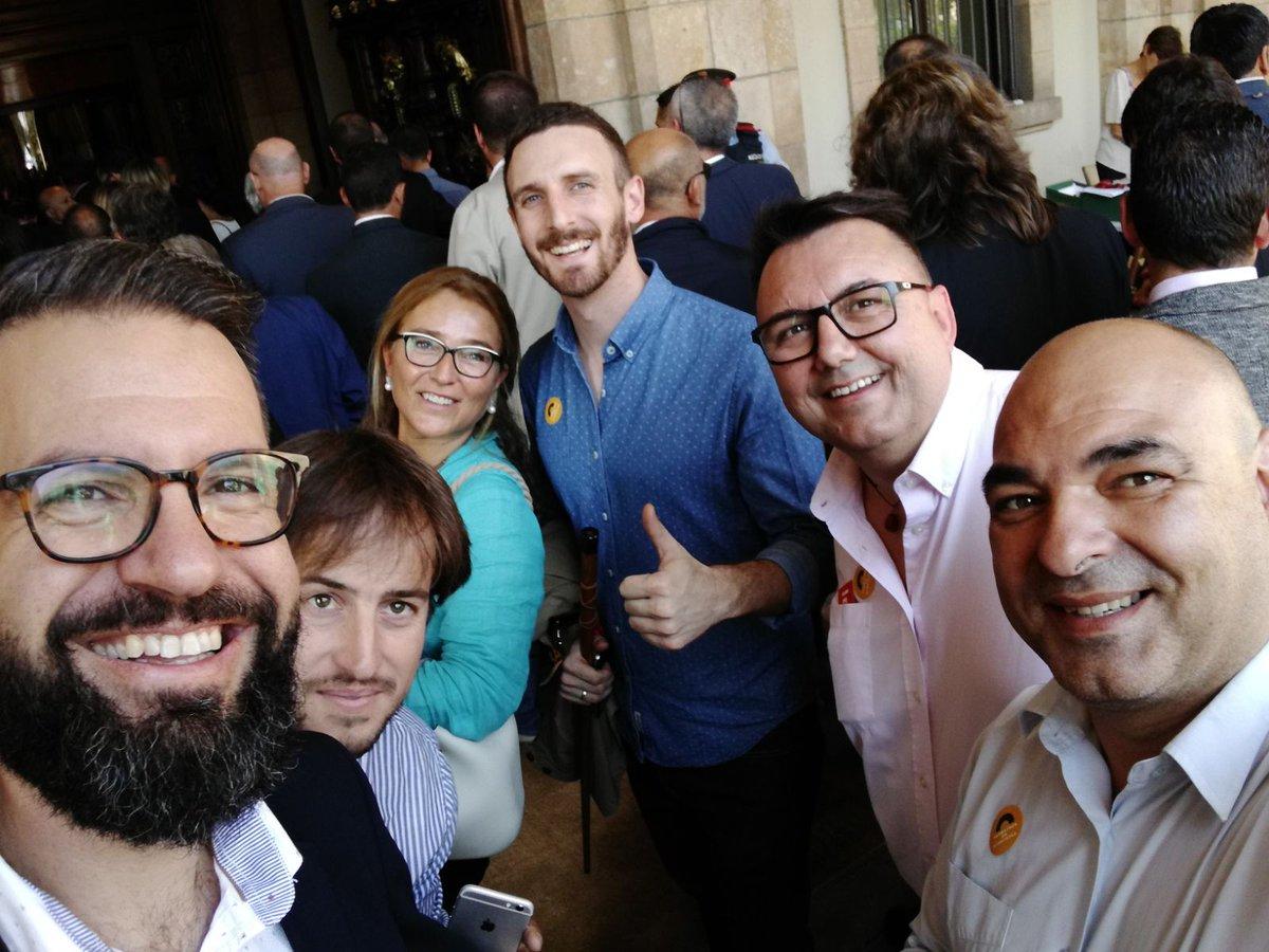 Alcaldes d'ERC i independents de la comarca al Parlament
