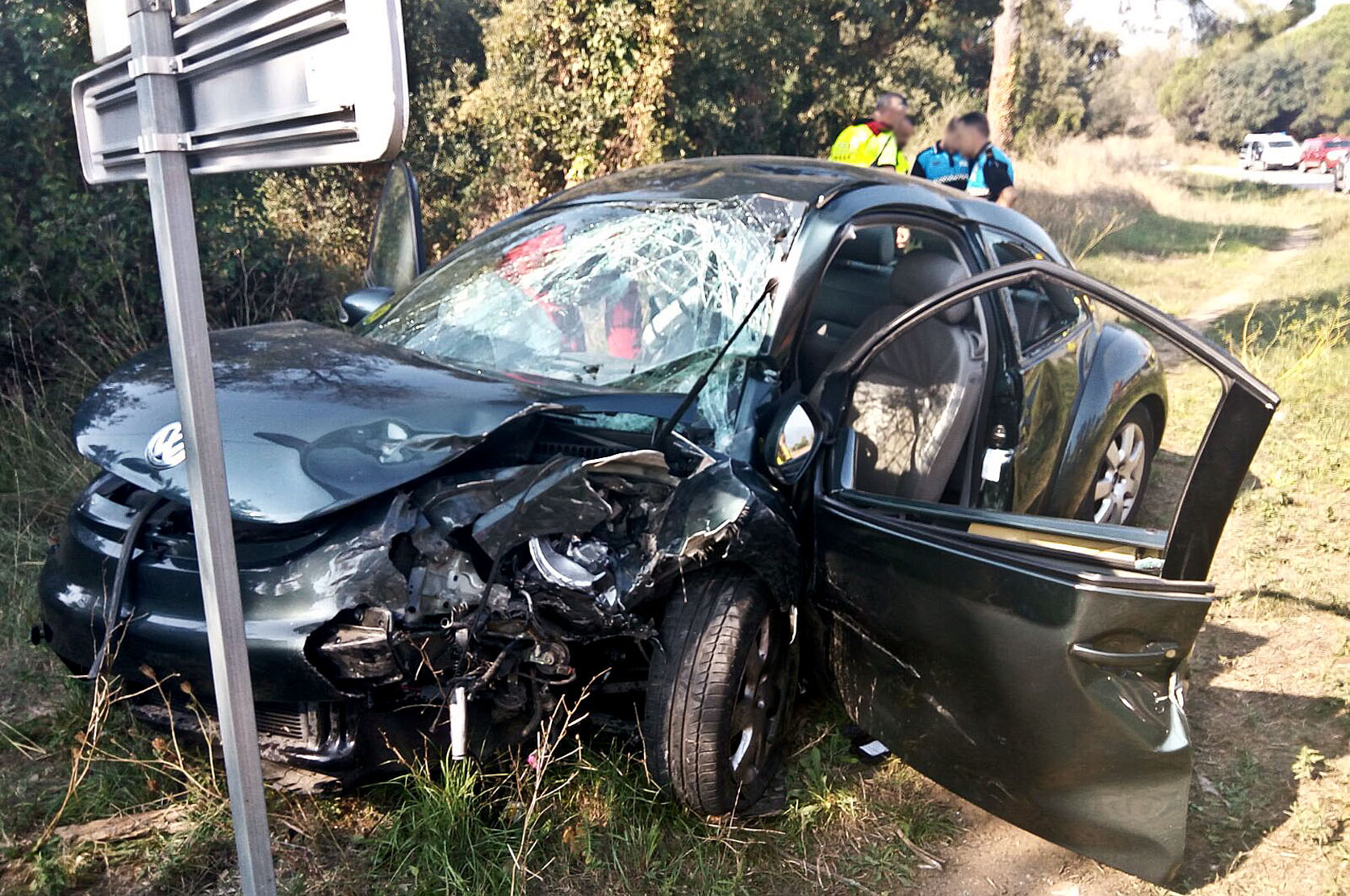 El vehicle accidentat que conduïa la víctima mortal