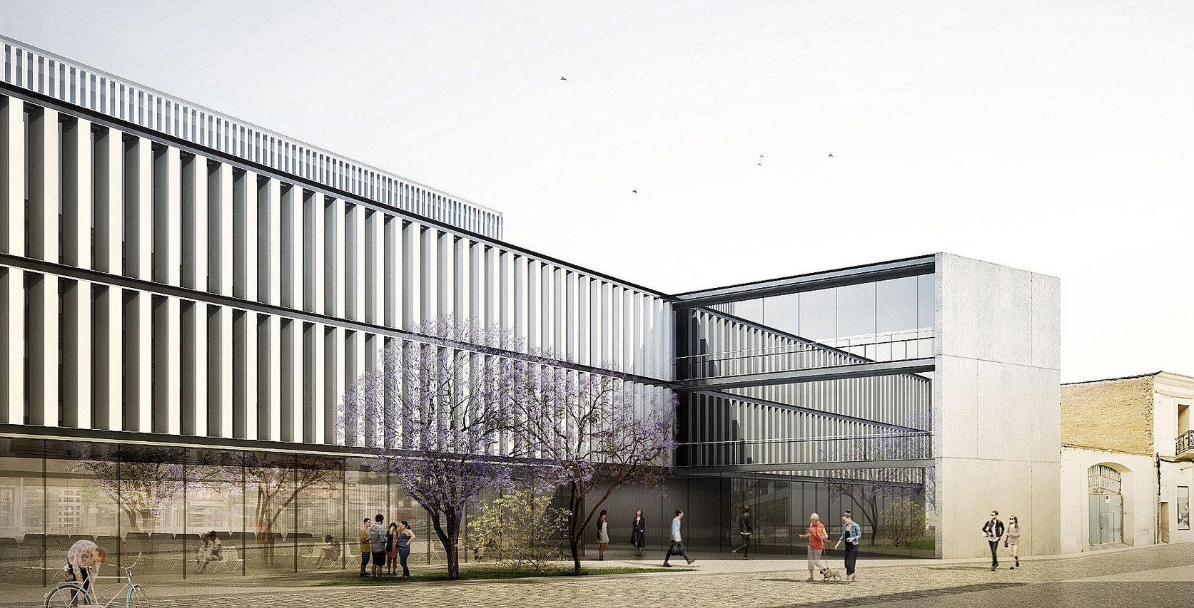 Imatge virtual de l'edifici que es construirà al solar de l'antiga Policlínica