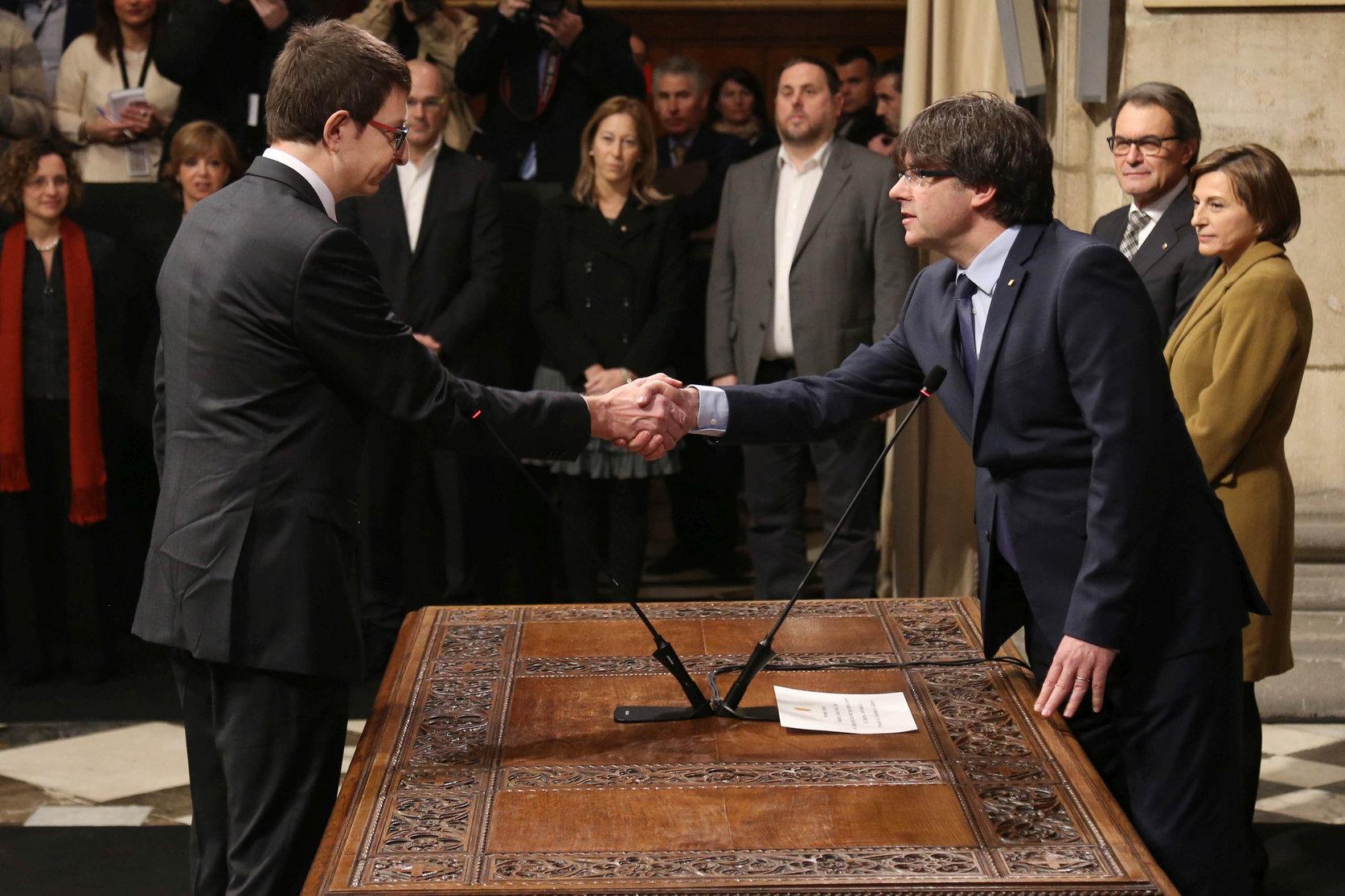 Carles Mundó quan va prendre possessió com a conseller de Justícia de la Generalitat