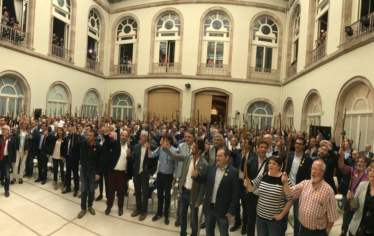 Alcaldes d'arreu del país, avui al Parlament de Catalunya