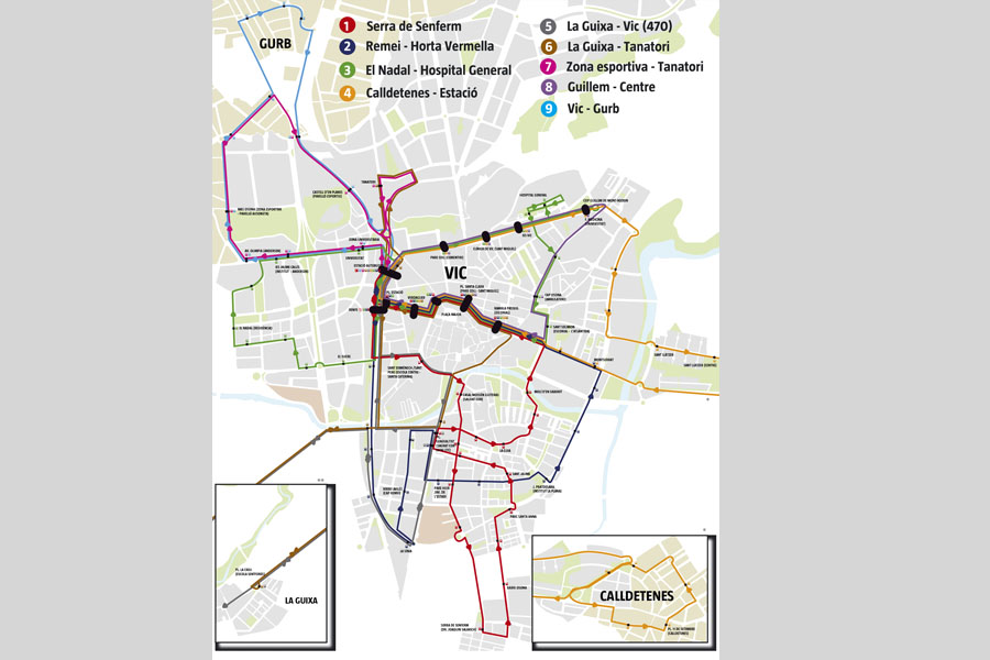 Noves línies del bus urbà de Vic