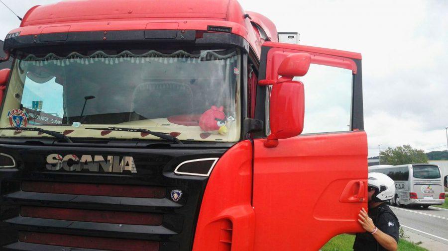 El camió implicat en l'incident // Marouane Marih