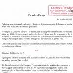La carta que han enviat a la Comissió Europea