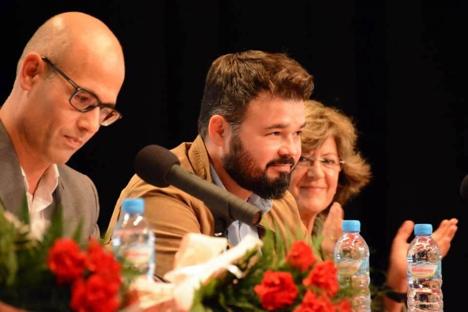 Jordi Seguer, amb Rufián i Massaguer