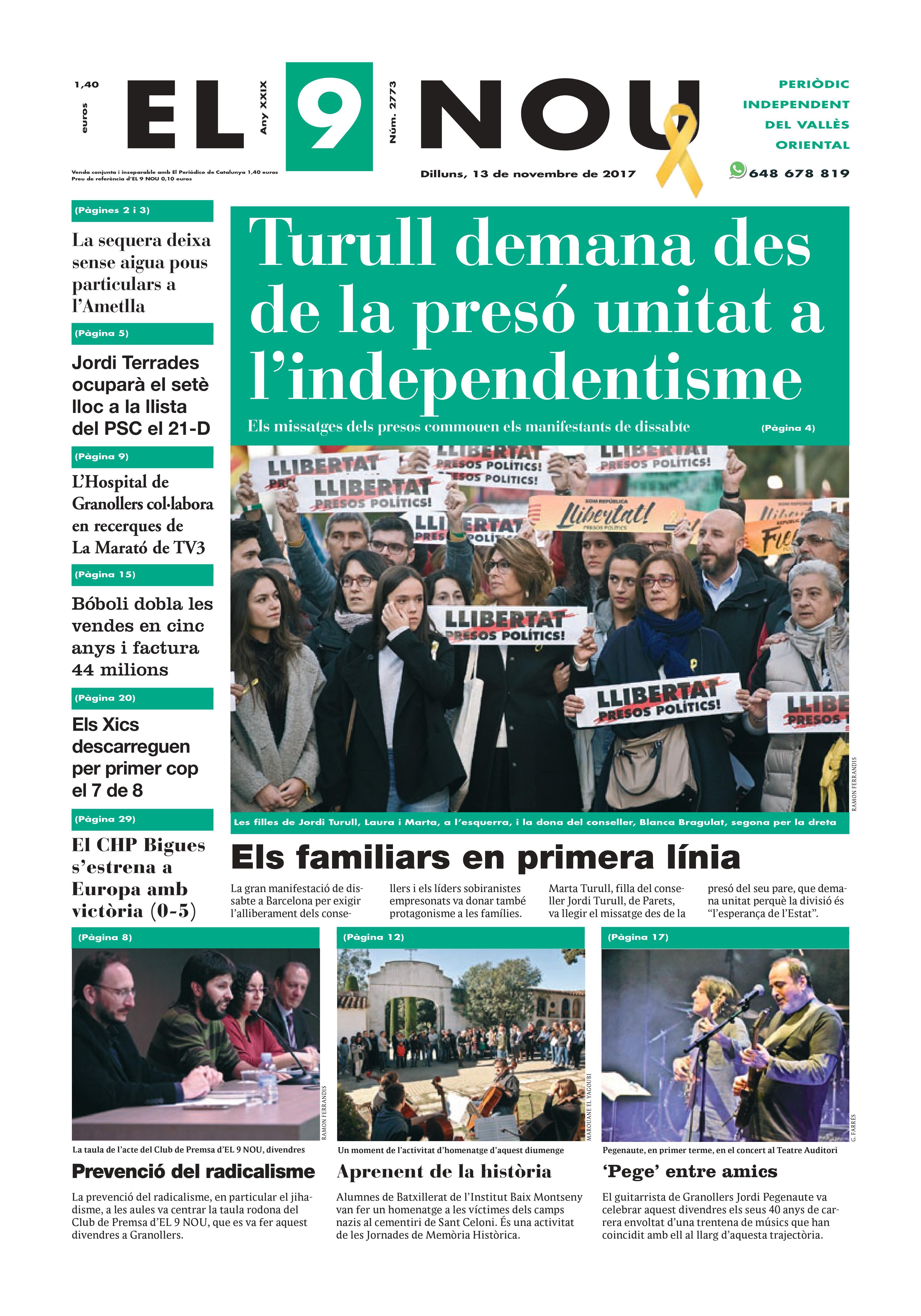 Portada Vallès Oriental 13/11/2017