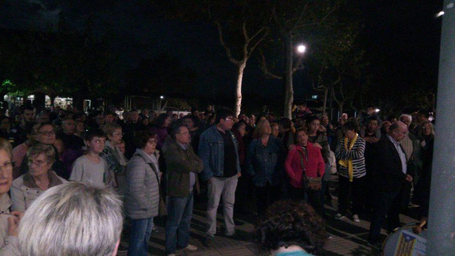 La concentració a Parets ha fet costat a Jordi Turull, amb la presència de familiars del conseller / Josep Villarroya