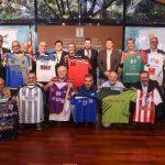 Els presidents i representants dels clubs catalans, aquest dilluns a la seu de la Secretaria General de l'Esport