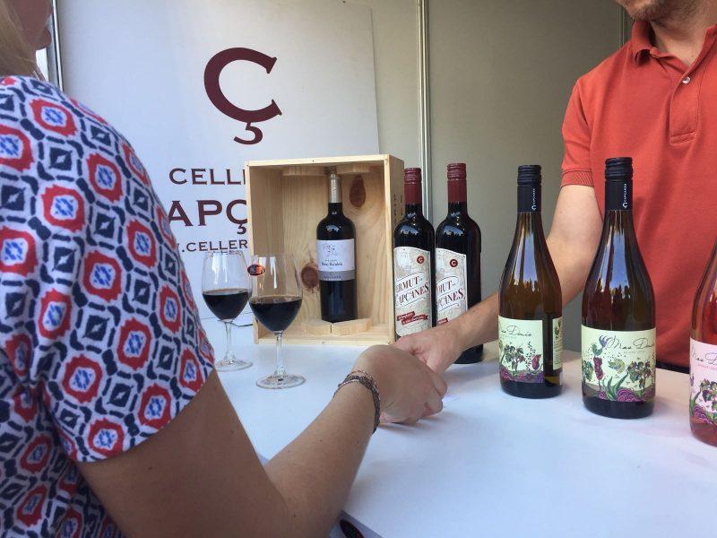 Celler participant de la Mostra exposant una nova gama de vins.