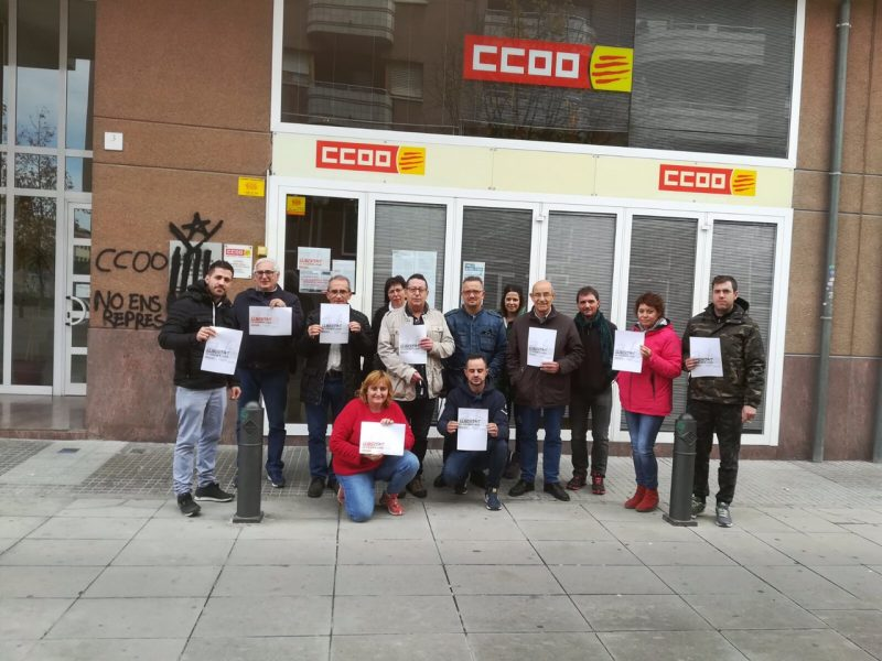 Concentració de representants de CCOO