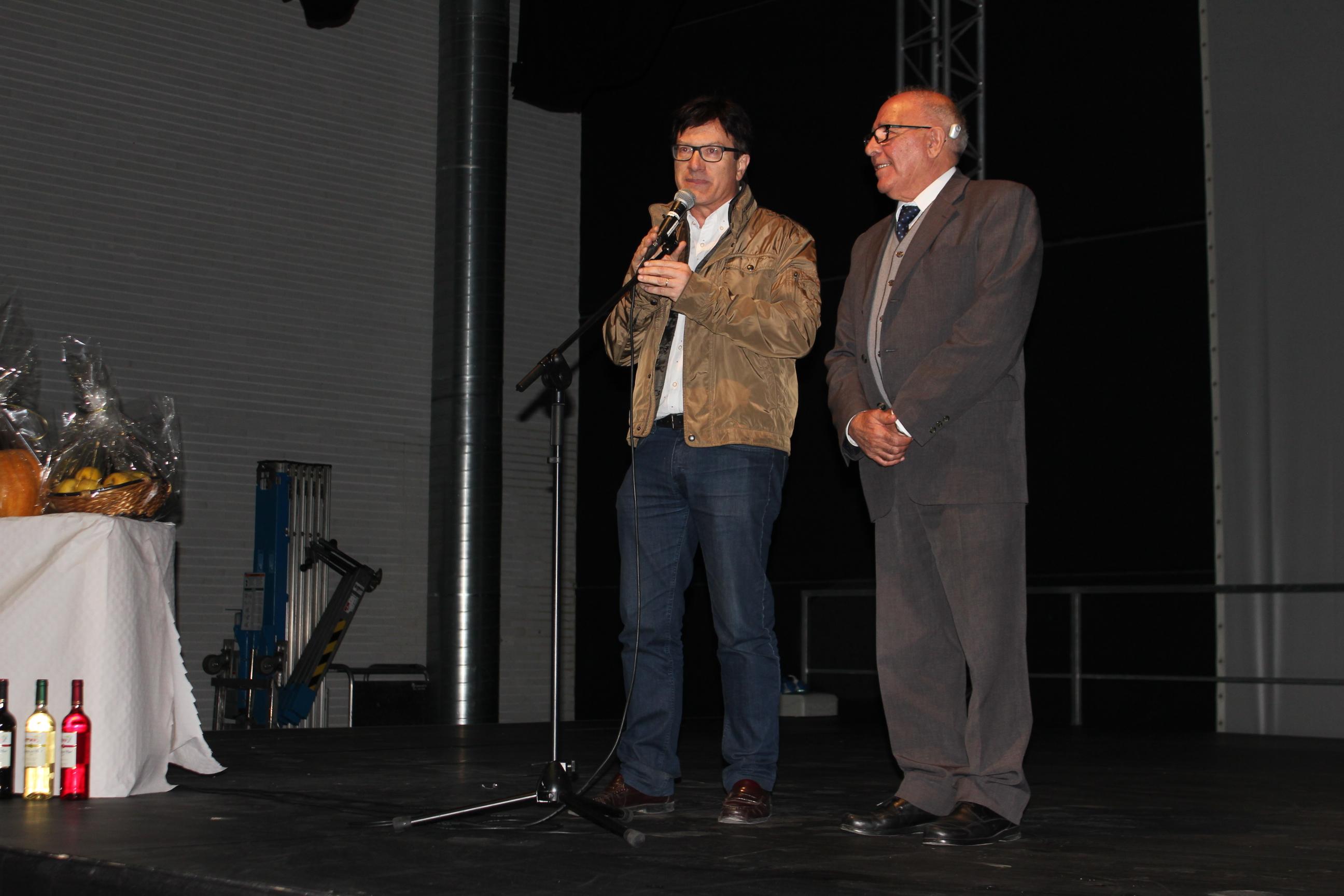 Xavier Farrés, a l'esquerra, i Francesc Luna