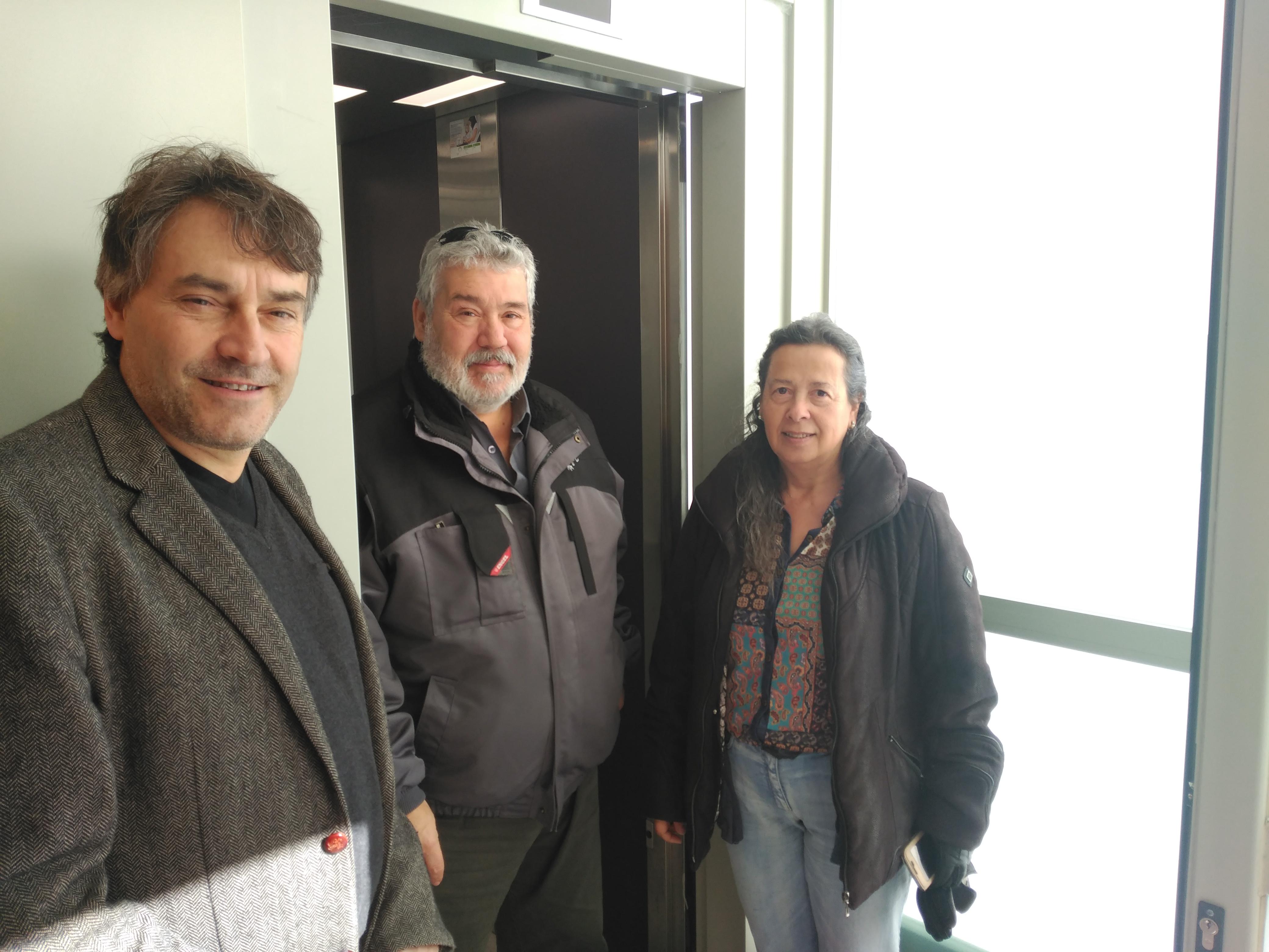 Presentació dels nous ascensors