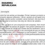 Junqueras ha adreçat la carta a la militància d'ERC