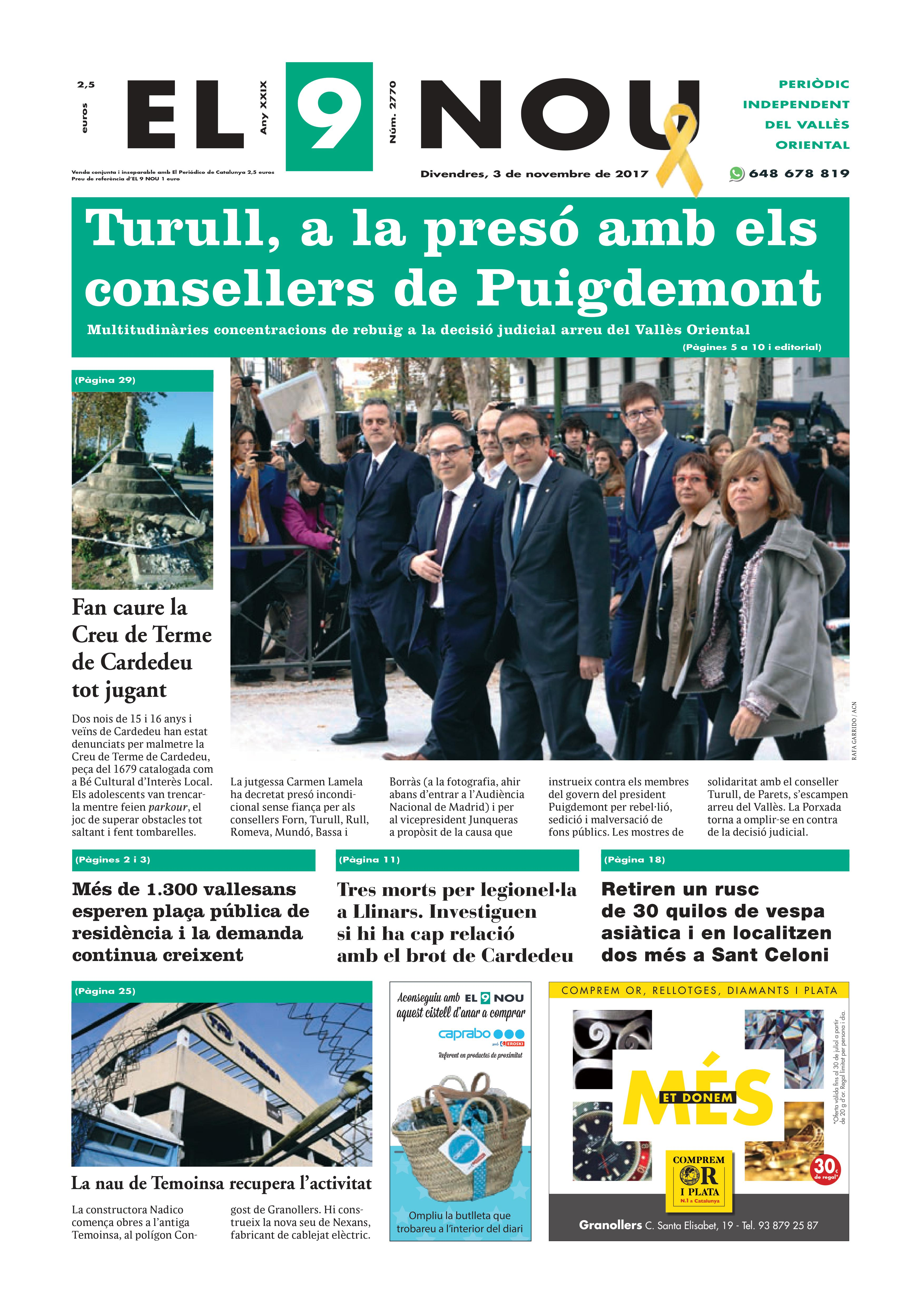 primera pagina EL 9 NOU 03_11_16 Vallès