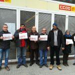 Set dels treballadors de CCOO a Vic, protestant