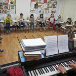 Alumnes de l'escola de música de Manlleu