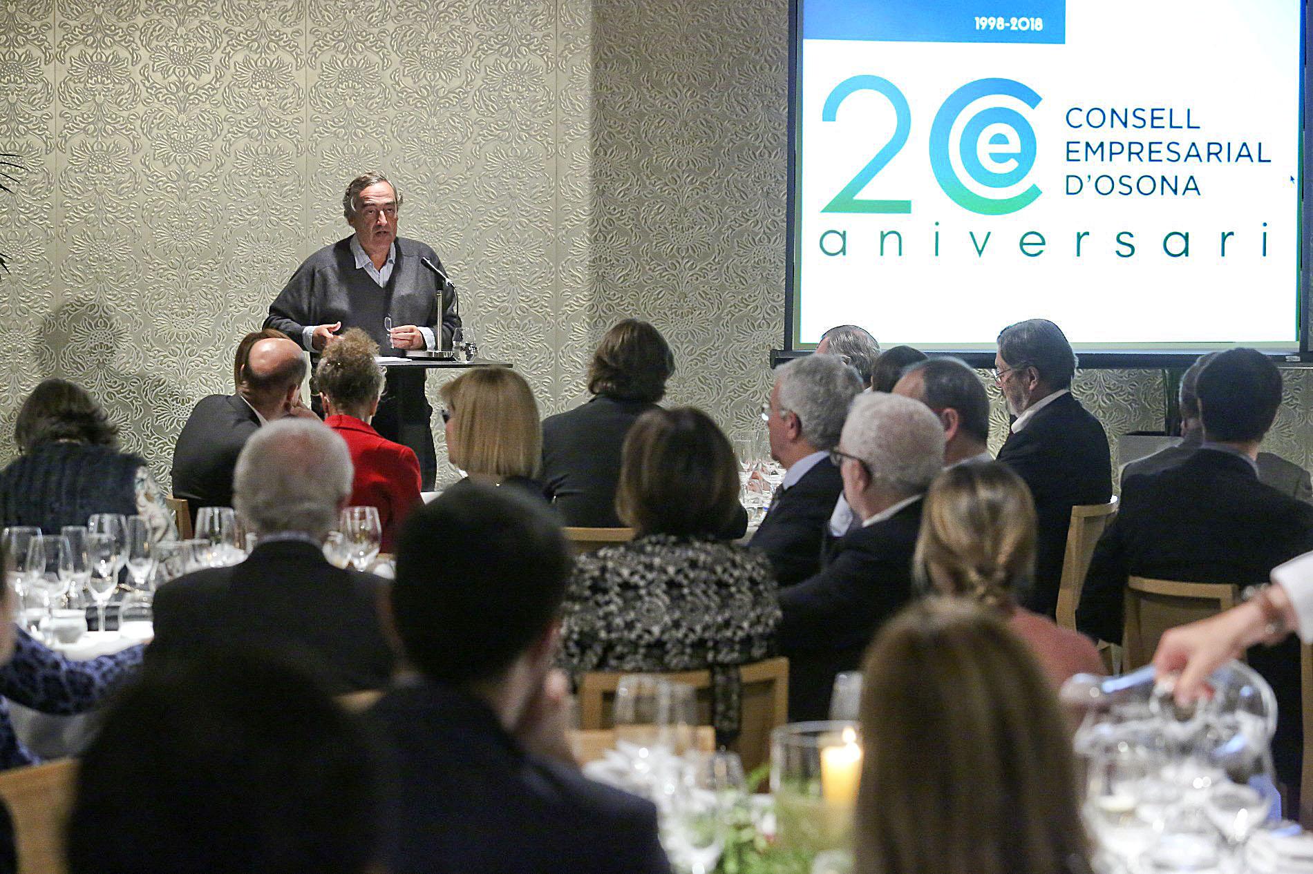 Joan Rosell va fer la conferència del Consell Empresarial d'Osona d'aquest any