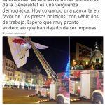 La piulada que va publicar Xavier García Albiol diumenge passat