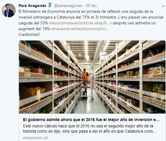 Tweet Aragonès