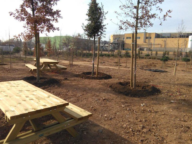 La zona verda tindrà tres zones de pícnic // Ajuntament de Granollers