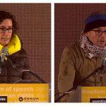 Marta Rovira i Joan Coma, aquest migdia a Brussel·les