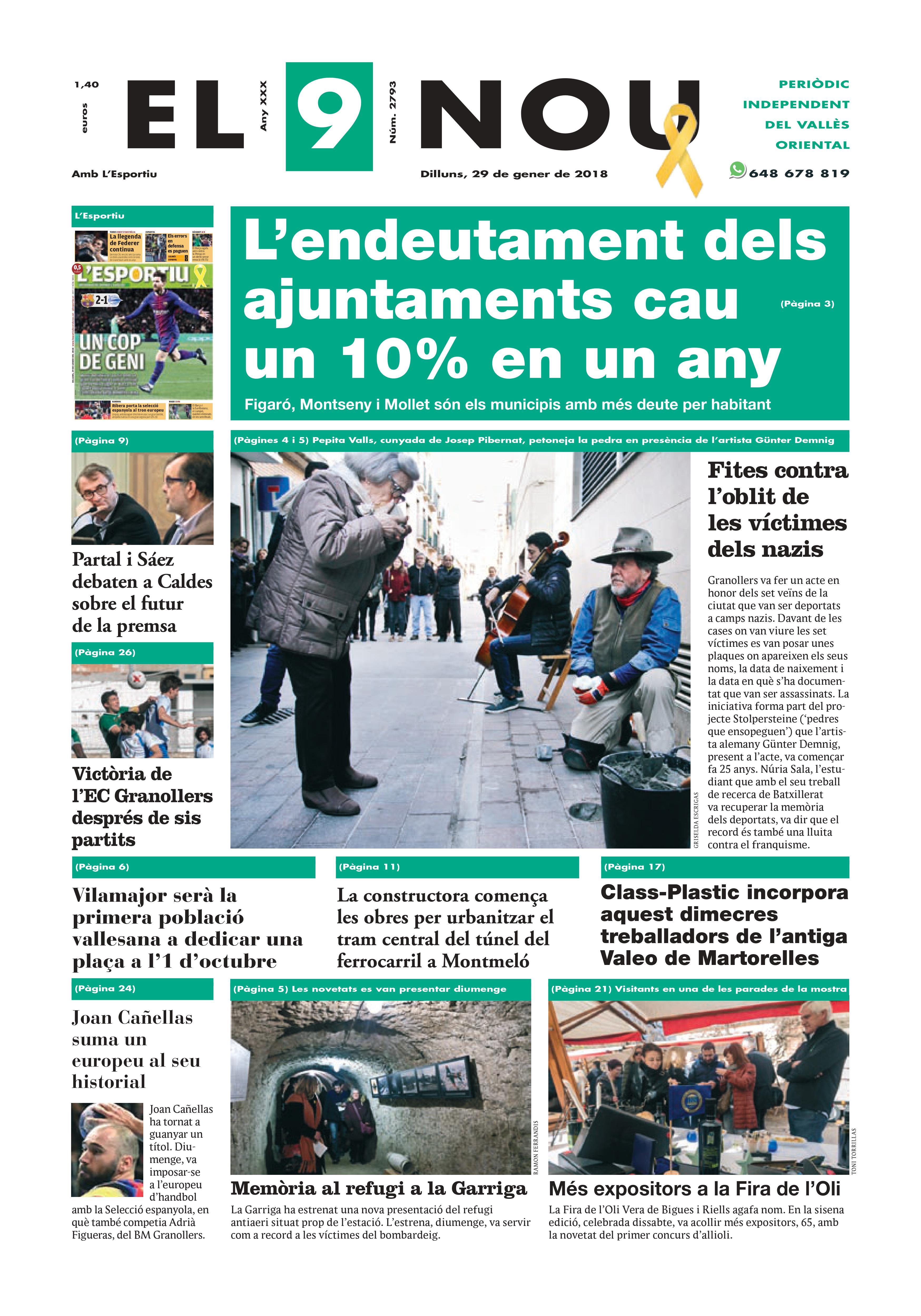Portada Vallès Oriental 29/1/1028