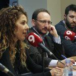 Perpinyà, Montoto i Jad, durant l'acte del Club de Premsa d'EL 9 NOU