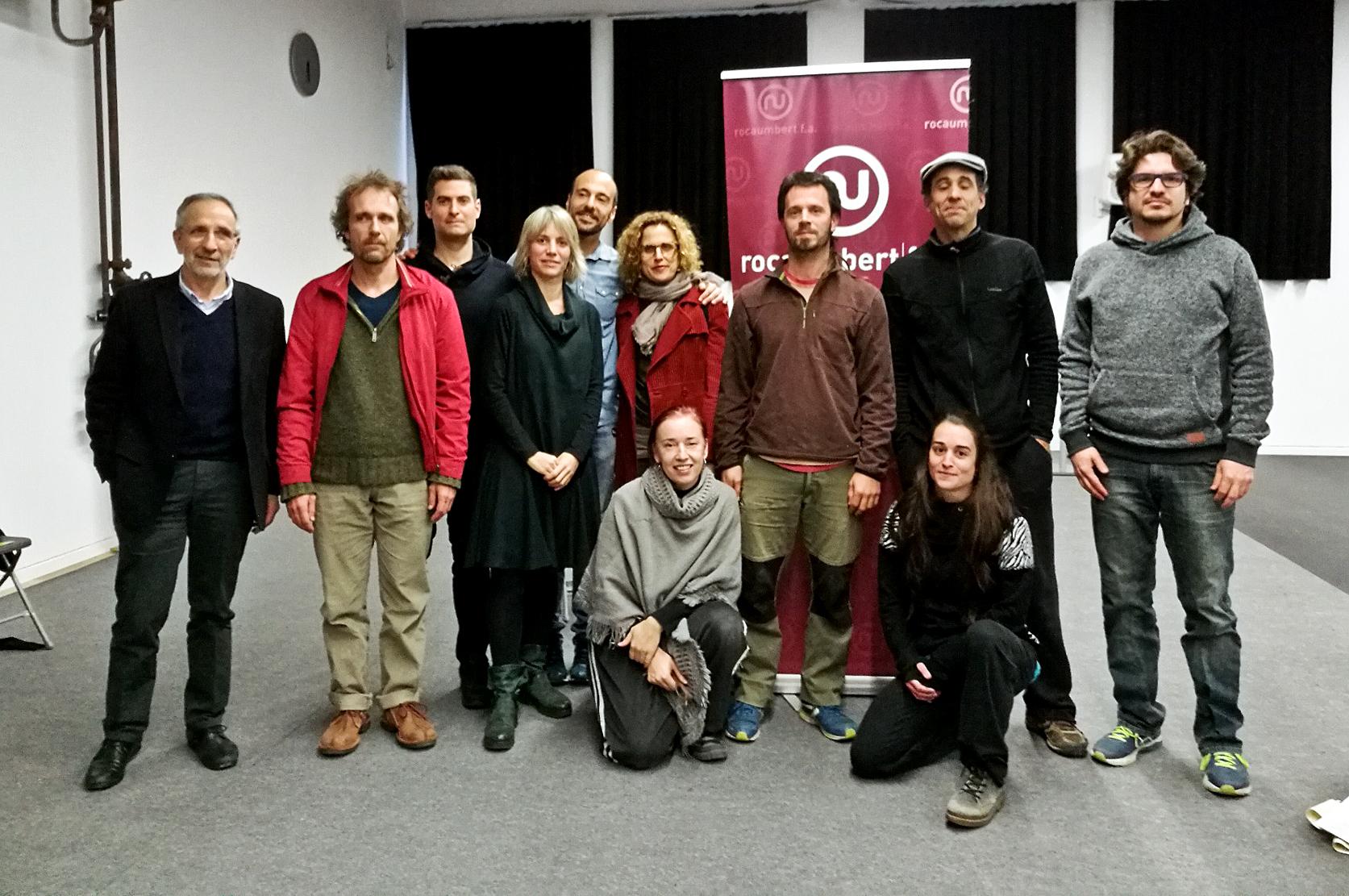 Guanyadors del concurs amb l'alcalde Josep Mayoral i la regidora Alba Barnusell