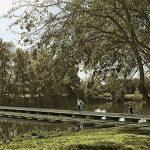 Recreació virtual de la passera per creuar el Ter a Manlleu