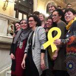 Marta Rovira amb altres diputades
