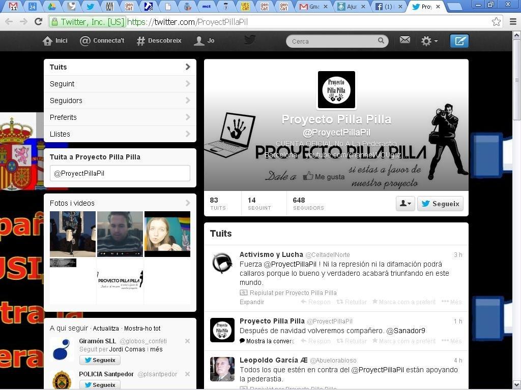 La web del projecte Pilla-pilla