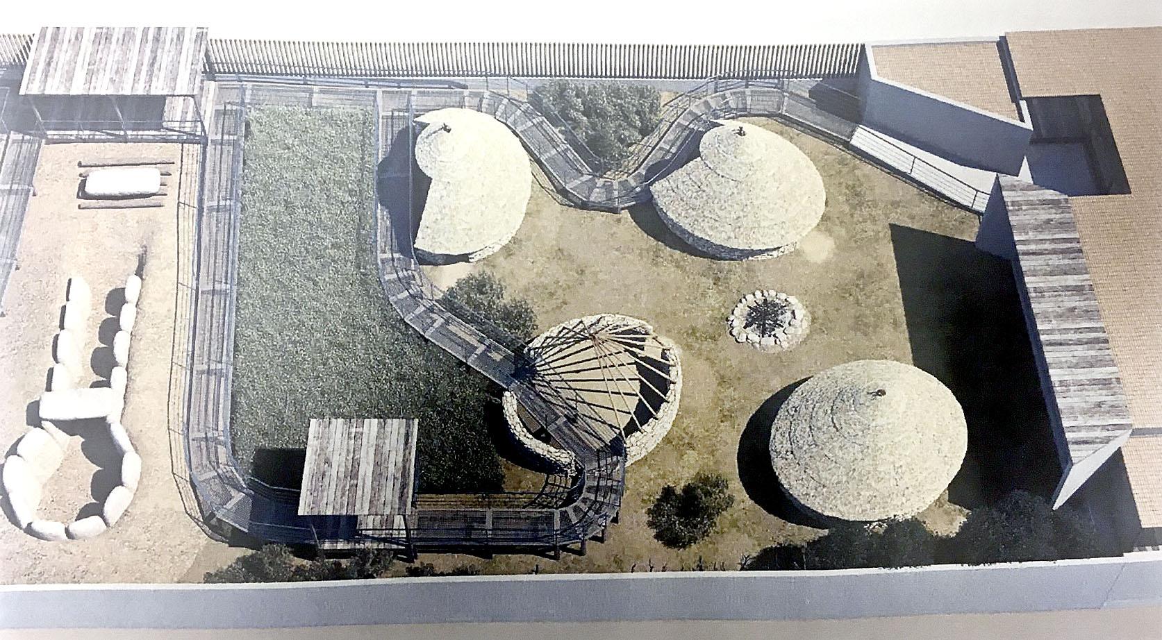 Una imatge aèria virtual de la distribució del parc
