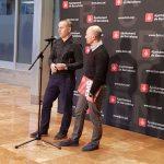 Eloi Badia, regidor de l'Ajuntament de Barcelona, i Sergi Mingote, alcalde de Parets i president del CBT