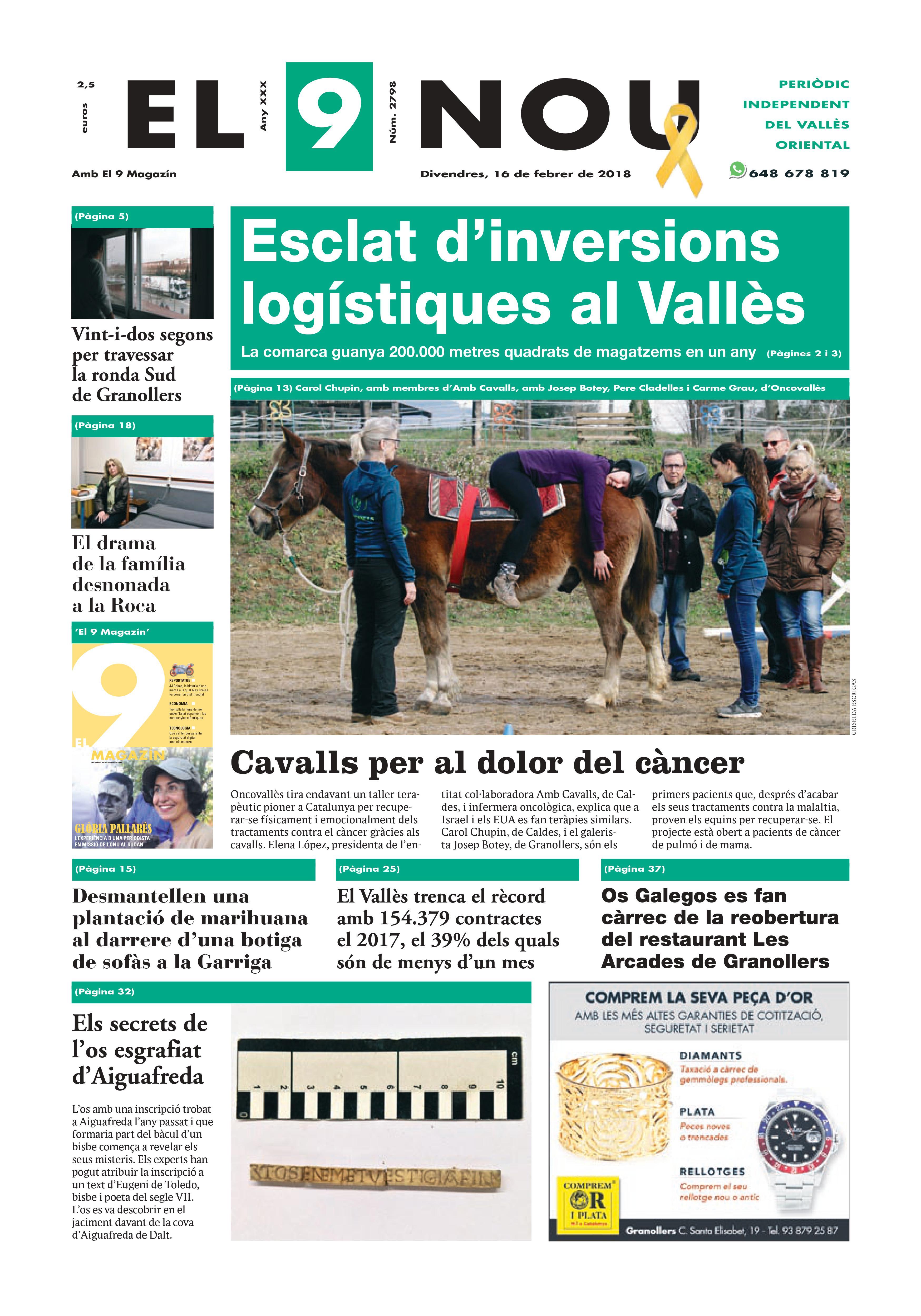 Primera Plana EL 9 NOU 16_02_18 Vallès