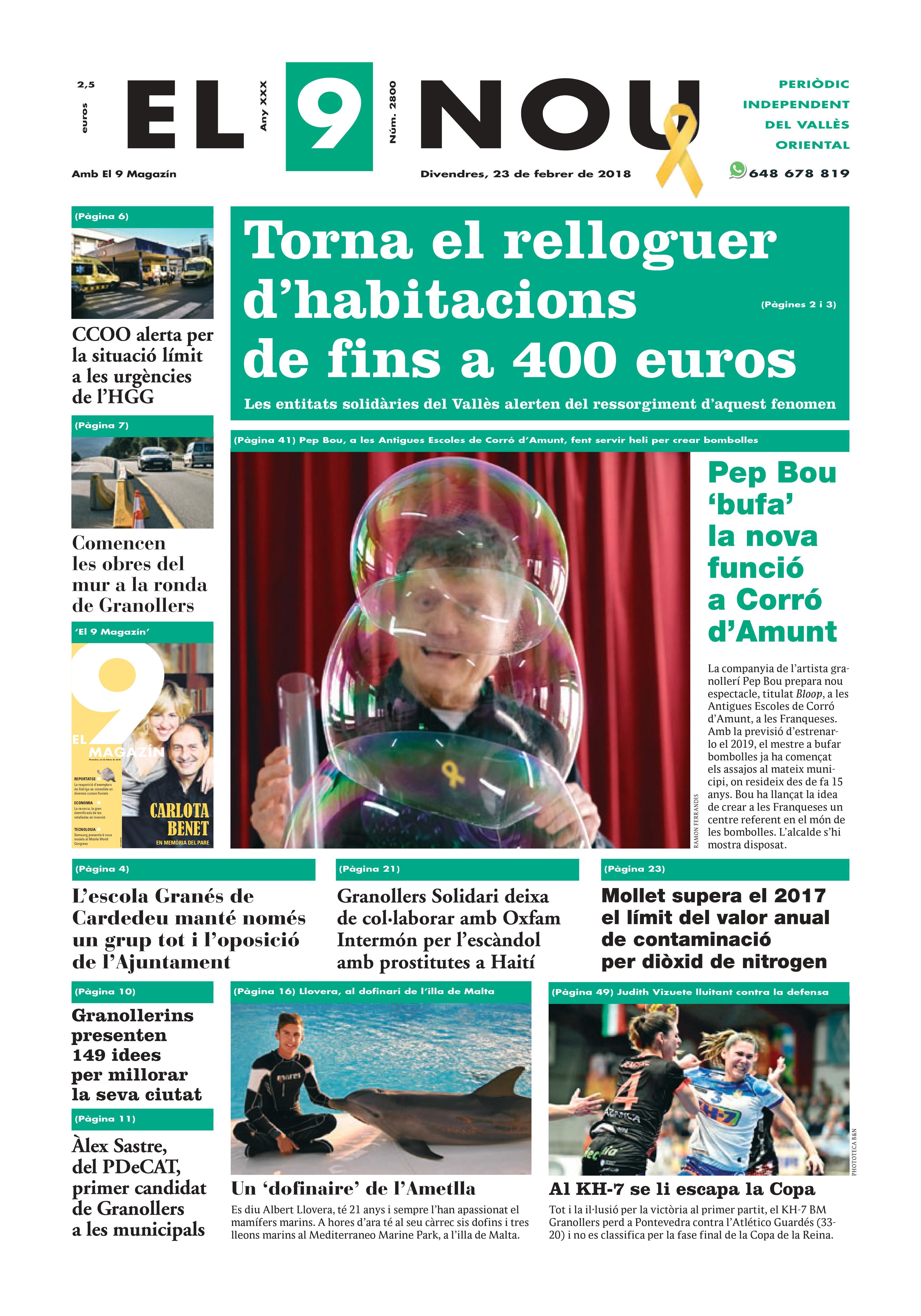 Primera plana EL 9 NOU 23_02_18 Vallès