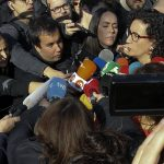 Marta Rovira atén els mitjans de comunicació el 21-D