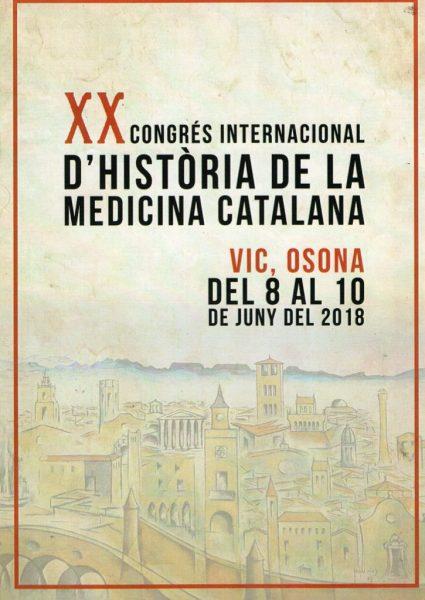Cartell informatiu del XXè Congrés d'Història de la Medicina Catalana