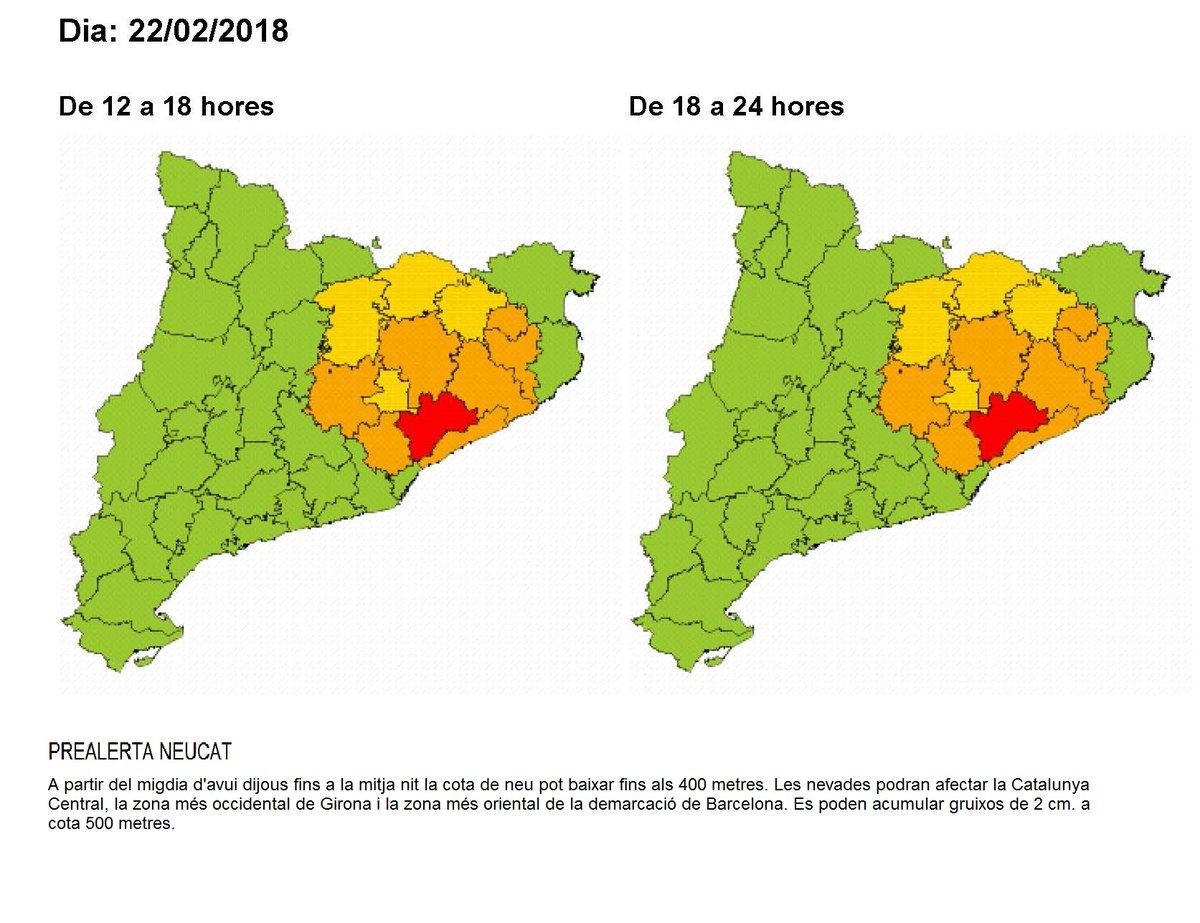 Mapa de risc difós per Protecció Civil