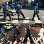 La Policia Local de Canovelles i els Beatles, fent un 'Abbbey Road'