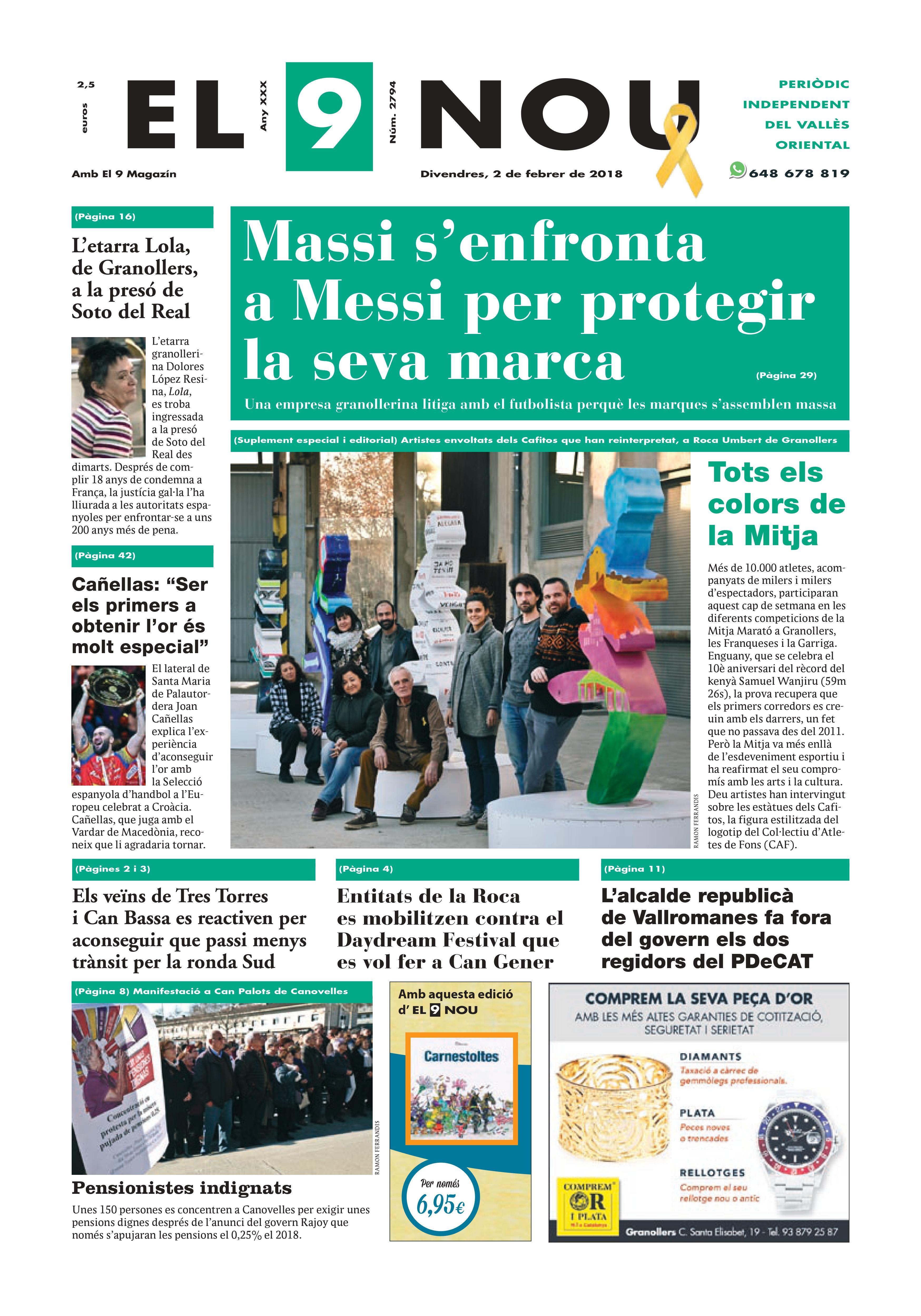 primera plana EL 9 NOU 02_02_18 Vallès