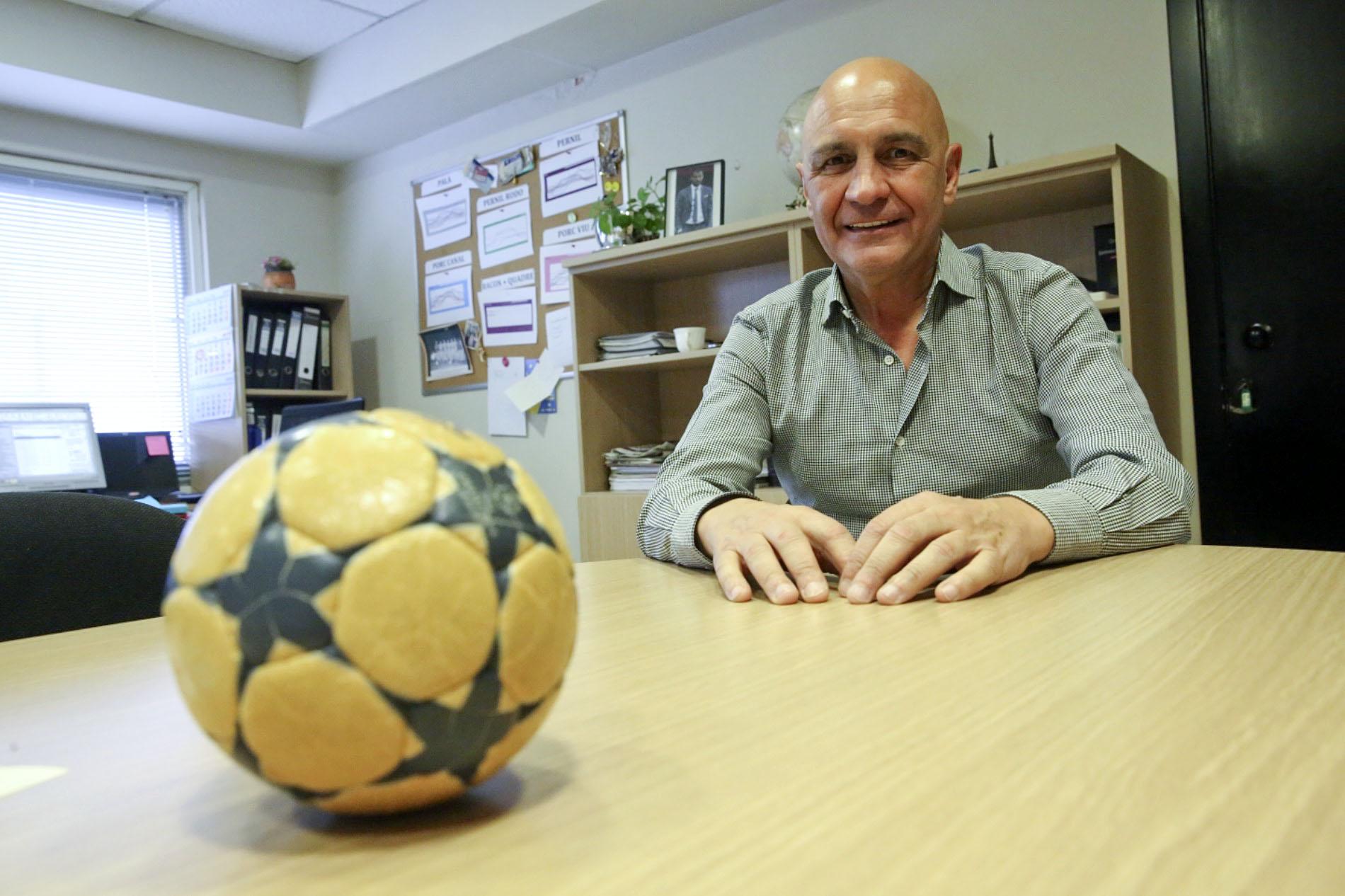 Jordi Solé, dijous, al seu despatx professional