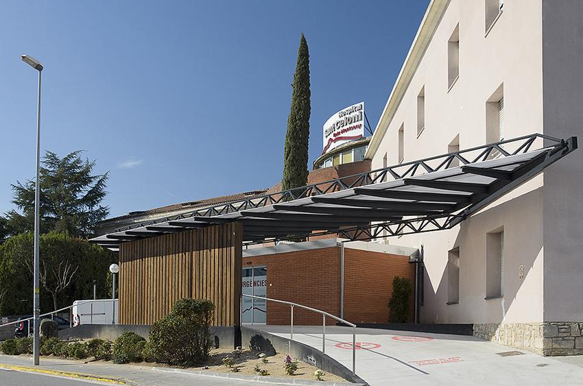 L'entrada de l'Hospital de Sant Celoni