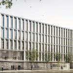 Imatge virtual del futur edifici sanitari que es construirà al solar de l'antiga Policlínica de Granollers