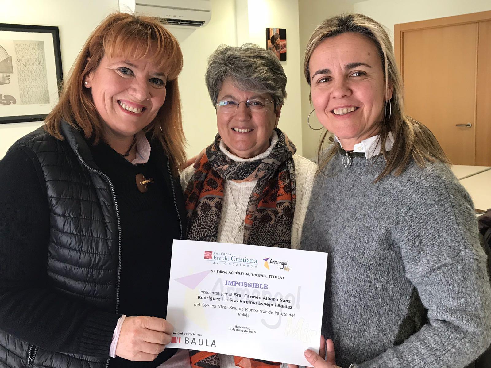 Les premiades amb el diploma acreditatiu