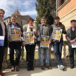 L'alcalde Jordi Munell amb responsables d'entitats implicades en la fira