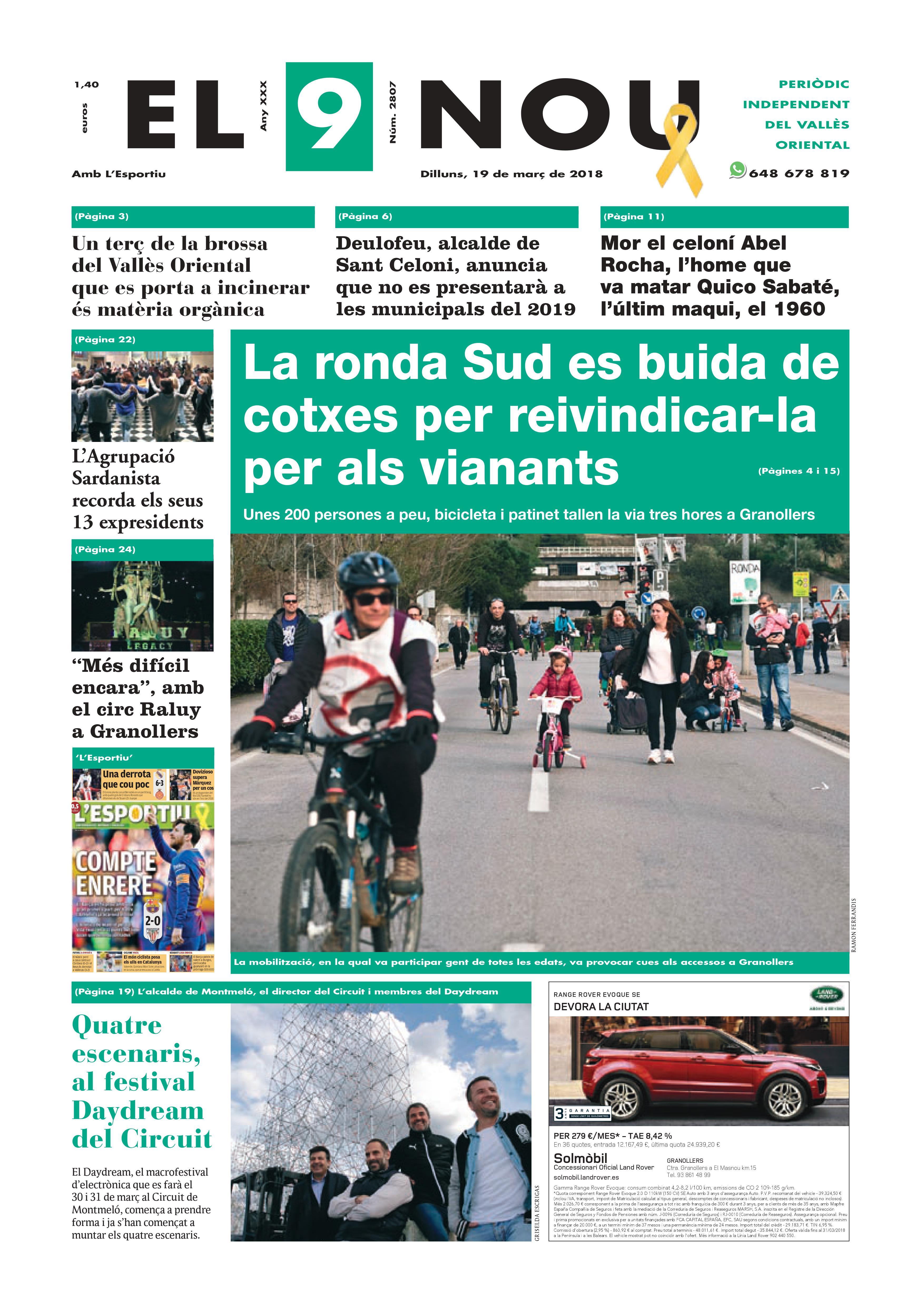 primera plana EL 9 NOU 19_03_18 Vallès