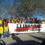 Participants a la marxa a l'arribada a Soto del Real