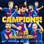 Muntatge que ha difós el twitter del Barça