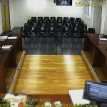 A l'esquerra en primer terme, l'advocat Raimon Montoliu durant el judici